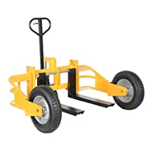 "Vestil ALL-T-HD Heavy Duty All Terrain Pallet Truck, 2500 lbs Capacity, 32"" Length x 12"" - 26-3/4"" Width Fork"