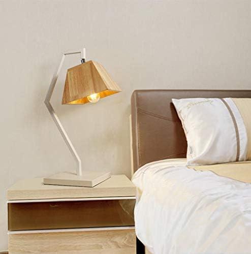 1. LED Light Modern Wooden Table Lamp Bedroom Bedside Lamp 2.
