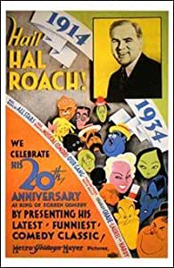 Hail Hal Roach Beautiful MUSEUM WRAP CANVAS Print with Added BRUSHSTROKES Unknown 11x17