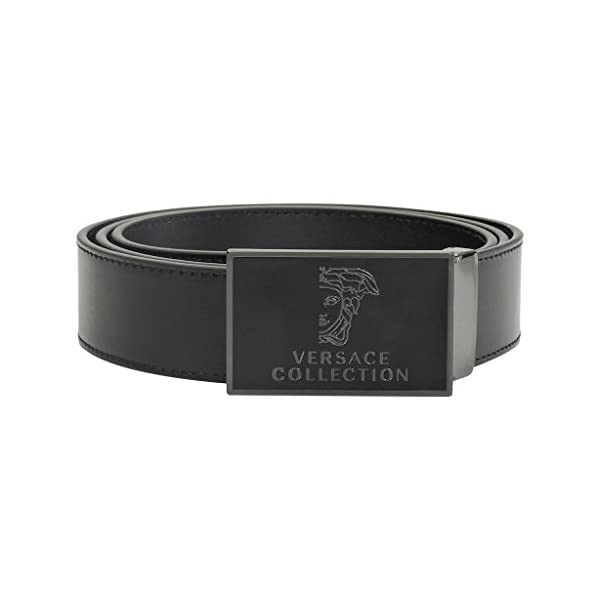 Versace-Collection-Medusa-Stainless-Steel-Buckle-Leather-Belt