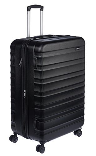 AmazonBasics Hardside Spinner Luggage – 28-inch, Black