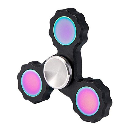 TYZEST Spinner Fidget EDC ADHD Focus Toy, Pure Aluminum Hand Spinner Fidget Toy Ultra Durable High Speed 2-5 Min Spins (Black) TYZEST