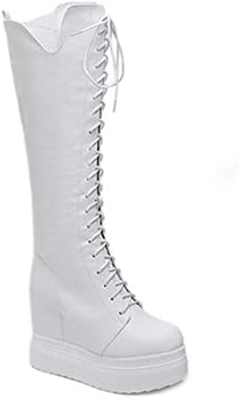 Chaussures femme d'hiver Coin 12cm avec des Super Hautes