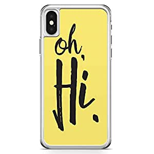 iPhone X Transparent Edge Phone Case Hi Phone Case Typography iPhone X Cover with Transparent Frame