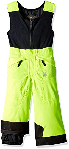 59dd56604 Spyder Boys' Mini Expedition Ski Pant, Bryte Yellow/Black/Black, Size