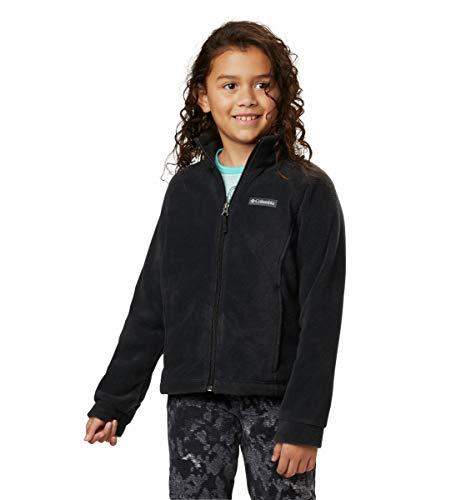 Columbia Girls Benton Springs Fleece Jacket, Black, X-Large (18/20)
