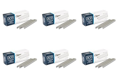 Advantus Stapler Clipper - Ace Office Products 70001 Staples, Undulated, For 07020 Clipper Plier, 5000/BX, 6 Packs