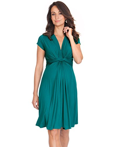 Seraphine Green Knot Front Maternity Dress (Light 6 Seraphine)