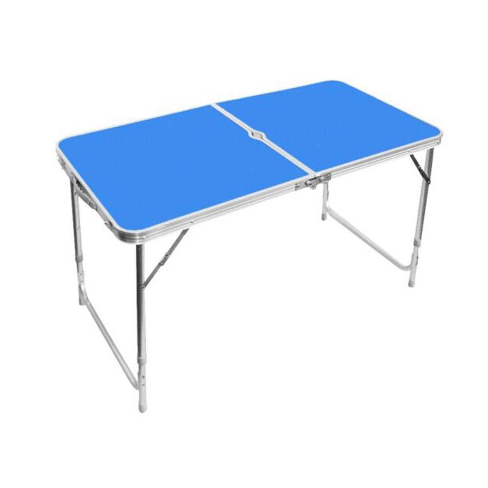 CJC Tavolini Tavolo Sgabelli Set, Pieghevole Campeggio Portatile Adjustment Altezza, Alluminio MDF Giardino Festa Picnic BBQ (colore   1 Folding Table)