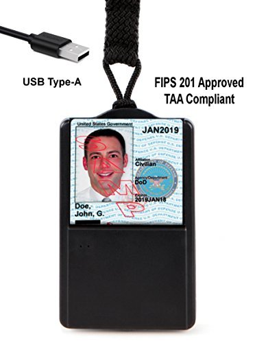 SGT118X Smart Badge CAC ID Holder & USB Smart Card Reader - USB A Connector