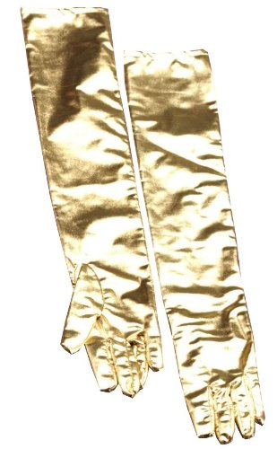 Forum Novelties Long Gold Theatrical Gloves - One Size]()