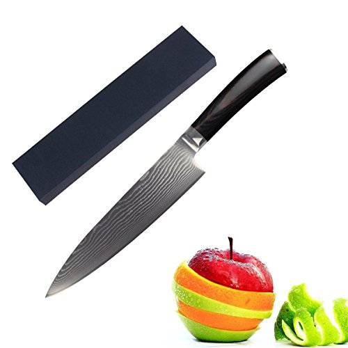 ZLCA Chef Knife 8 inches Japanese Stainless Steel Gyutou Knife Professional Kitchen Knife with Ergonomic Handle(ZLK1) - Artifex Collection