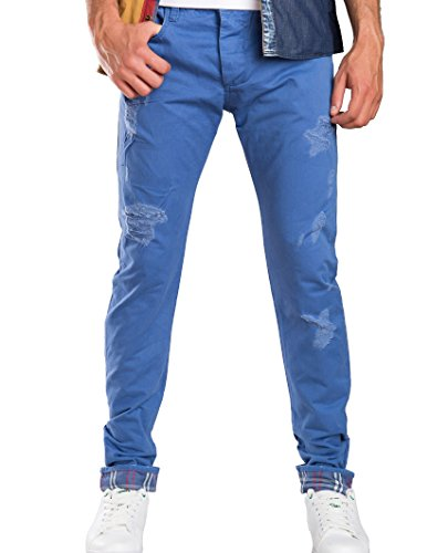 Red Bridge Herren Squared Regular Fit Jeans Denim Pants Blau W36 L34