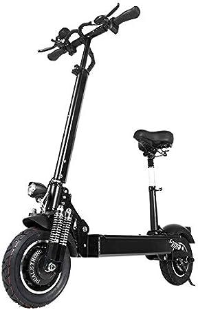 Janobike - Monopattino elettrico ad alta potenza da 2000 W, 23 Ah E-Scooter, 70 km/h, pieghevole, con ricarica USB
