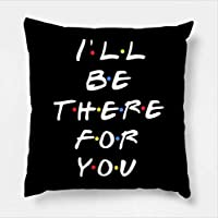 AEROHAVEN Satin Friends TV Series - I'll Be There for You Decorative Throw Pillow/Cushion Cover