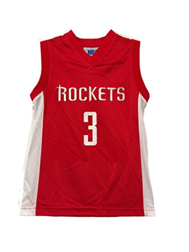 Outerstuff NBA Boys Youth 8-20 Player Name & Number Mesh Replica Jersey (Youth X-Large 18-20, Houston Rockets Chris Paul Red)