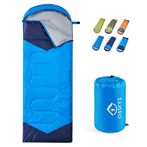 Oaskys Camping Sleeping Bag 3 Season Warm Amp Cool Weather