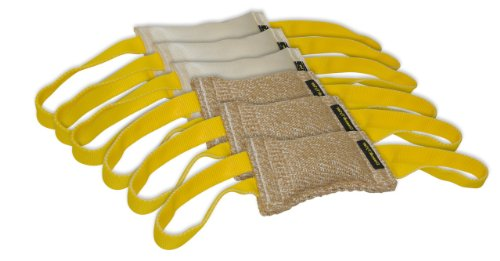 Dean & Tyler Bundle of 6 Tugs for Pets, 3-Jute and 3-Fire Hose, 8-Inch by 4-Inch by Dean & Tyler