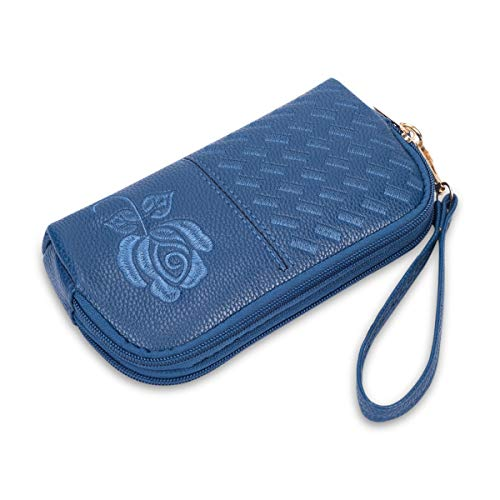 Wristlet Wallet with Strap for Women, Leather Wristlets Phone Purse Clutch for iphone (Wristlet blue) by JZE (Image #5)