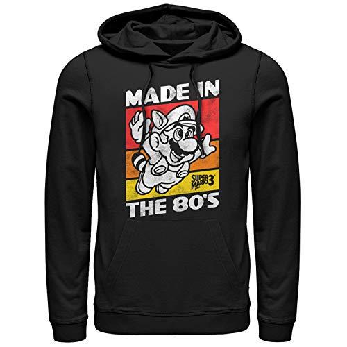 Nintendo Men's Raccoon Mario Made in The 80's Black Hoodie