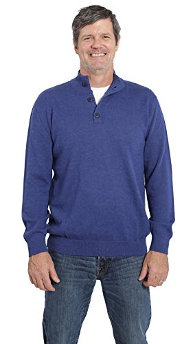 Incredible Natural Creations from Alpaca - INCA Brands The Batted 3-Button (Blue, Large) by Incredible Natural Creations from Alpaca - INCA Brands