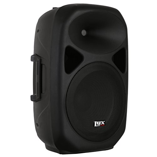 LyxPro SPA-15-15 Compact Portable PA System 180-Watt RMS Power Active Speaker with Equalizer, Bluetooth, SD Slot, USB, MP3, XLR, 1/4