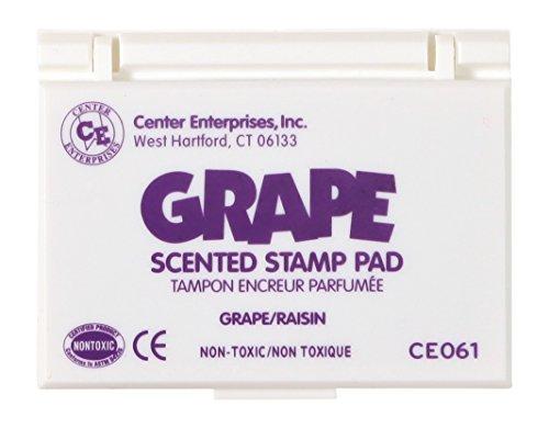 Center Enterprise CE061 Grape Scented Stamp Pad, Purple