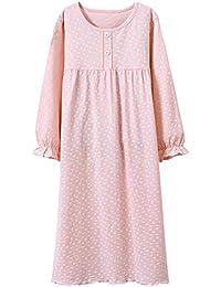 2abb8c8b79 Girls  Princess Nightgowns Heart Print Sleep Shirts Cotton Sleepwear for  3-12 Years