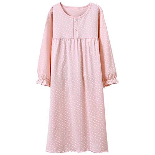 Baby Girls' Princess Nightgowns Polka Dots Sleep Shirts Fancy Sleep Gowns Pink 3t