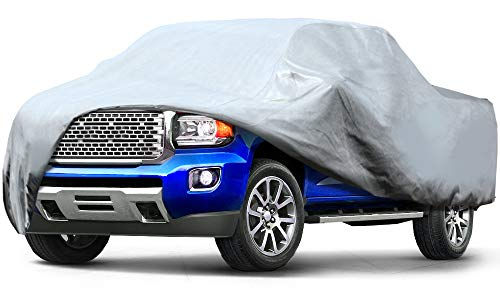 Leader Accessories Pick Up Truck Cover 3 Layer Dustproof Windproof UV Protection Car Cover Up to 20'8″