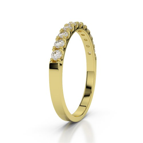 Or jaune 18carats 0,33CT G-H/VS Certifié Coupe ronde sertie de diamants Agdr-1123