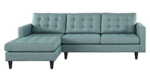 Empress Left-Facing Upholstered Sectional Sofa in Laguna