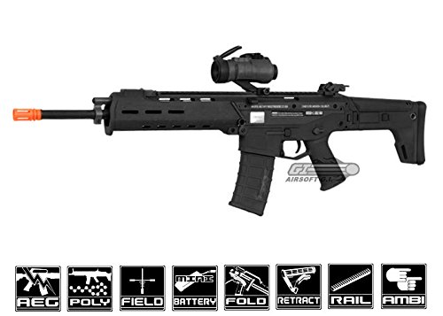 a&k licensed magpul masada acr full metalairsoft gun aeg rifle - black(Airsoft Gun)