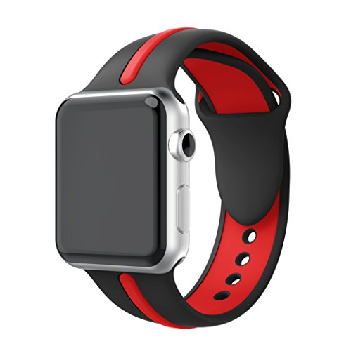 Silicone Watchband Replacement for Apple Watch 42mm (Red) - 5