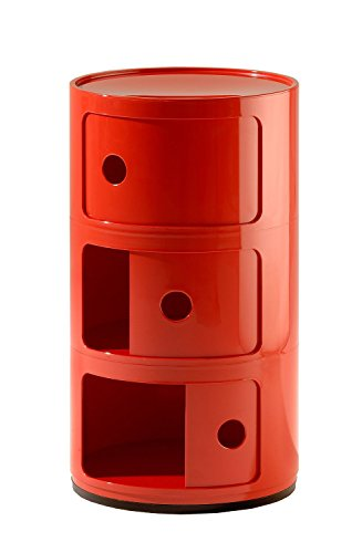 Kartell Componibili Drawer, Pack of 1, Red
