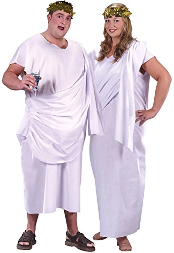 Toga Toga Adult Costume (Plus) White