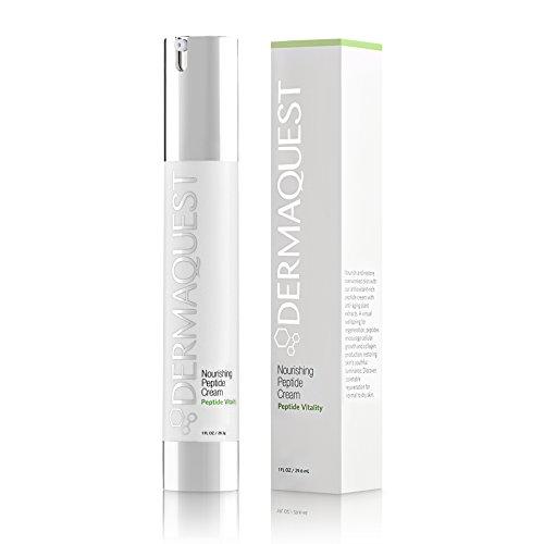 DermaQuest Peptide Vitality Nourishing Peptide Cream Moisturizer for Aging Skin, 1 oz