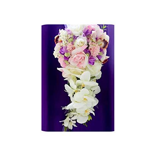Magic Day Royal Blue Waterfall Wedding Bouquets Silk Flower Bouquet Fleur Pink Wedding Flowers Bridal Bouquets,Picture -