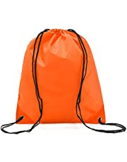 Bullidea Backpack Drawstring Bags Sports Travel Bag Storage Pouch Solid Color Waterproof (34 * 39cm)