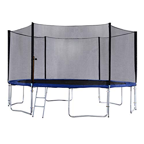 Exacme 6W Legs Trampoline with Safety Pad & Enclosure Net & Ladder...