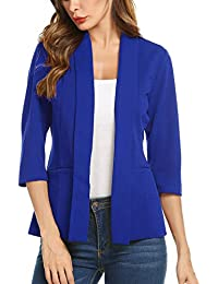 7d864277bc81 Women's Casual Lightweight Long Sleeve Open Front Work Office Blazer Jacket  S-XXL