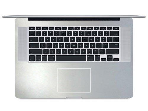 "2-Pack BingoBuy Customized Free Cut Palm Rest Palmrest Vinyl Sticker w/Touchpad Trackpad Sticker for 15.4"" MacBook pro with Retina Model: A1398 (Matte Silver)"