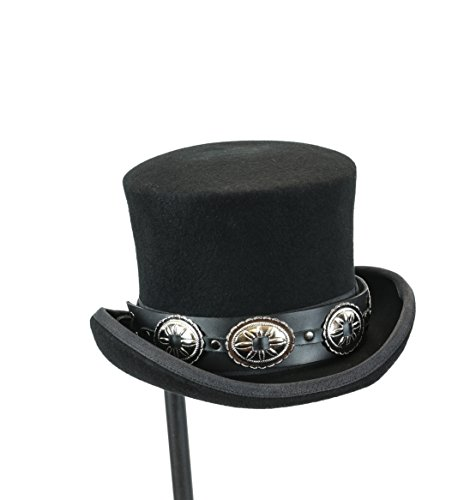 Top Hat Wool Felt Victorian Style Conch Mad Hatter Theater Rental Quality (Medium Conch)]()