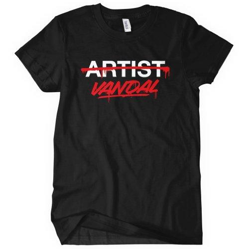 Special Blends Women's Vandal Not Artist T-shirt - Black, Medium