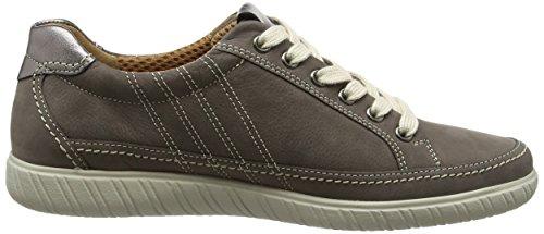 Gabor Ladies Comfort Sneaker, Grey Brown (fumo / Argento 31)