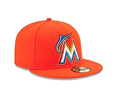 New Era 59FIFTY Fitted MLB AC YOUTH On Field Miami Marlins Road Cap