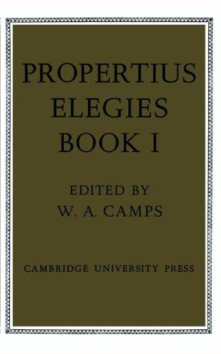 Propertius: Elegies, Book 1