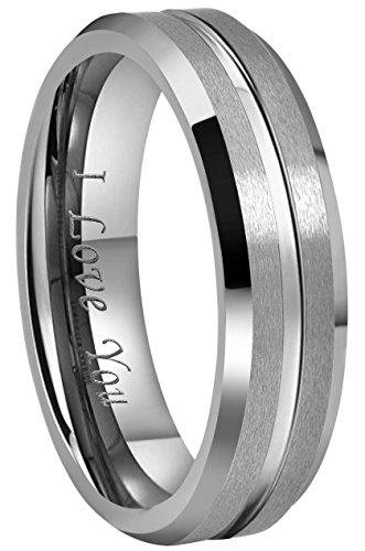 6mm platinum wedding band - 2