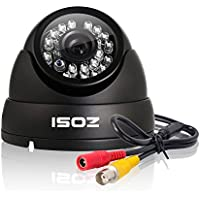 ZOSI HD 1000TVL Surveillance Security Camera Day Night Vision 24 IR Leds Weatherproof Wide Angle 3.6mm Lens Metal Dome Video CCTV Camera