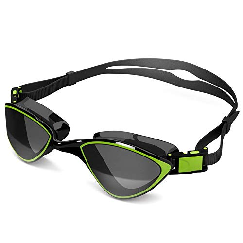 Swim Goggles for Adult Men Women - Best for Lap Swimming, Training in Pool, Open Water, Triathlon, Cool Competitive Swim Equipment for Youth, Kids Over 14, No-Leak, Anti-Fog with UV ()